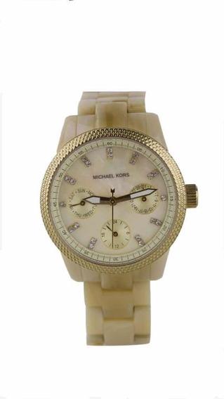 Relógio Michael Kors Mk5400madre Pérola Dourado
