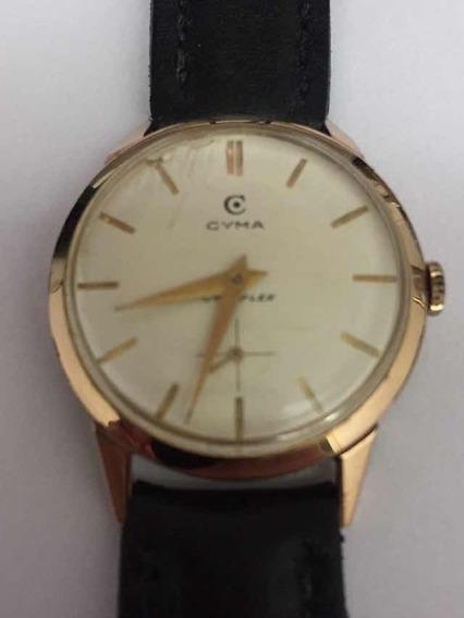 Relógio De Ouro 18k Cymaflex Suíço