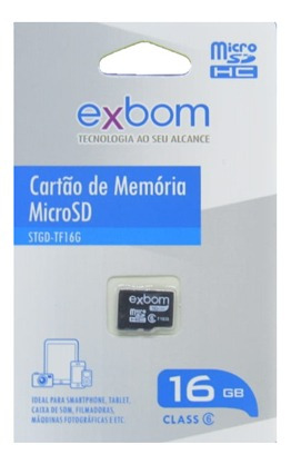 Cartao De Memoria Micro Sd 16gb Exbom (stgd-tf16g)