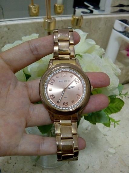 Relógio Feminino Lince Rose Gold