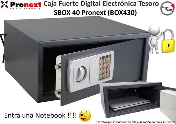 Caja Fuerte Digital Electrónicatesoro Sbox 40 Pronext Box430