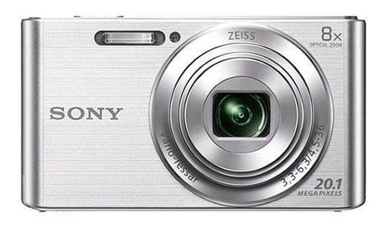 Câmera Compacta Sony Dsc W-830 20.1 Mp 2.7 Com Usb - Prata