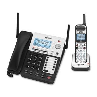 At & T Synj Sb67138 Dect Teléfono Inalámbrico. Plata . Inalá