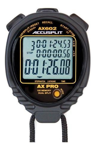 Accusplit Ax602pro Memoria (100) 3line Cronómetro Con S