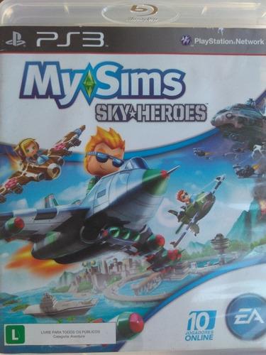 My Sims Sky Heroes Ps3 Original, Mídia Física