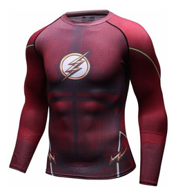 Flash Playera Dc Reverse Zoom Compresion Reverso Liga Justi.
