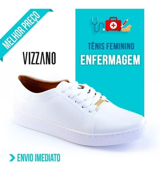 Tênis Branco Para Enfermagem Feminino Vizzano Promoção