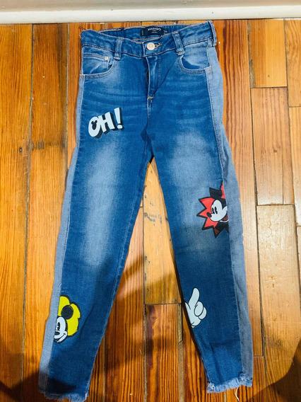 Pantalón Jeans De Nena Marca Mango Disney Talle 6 De Usa