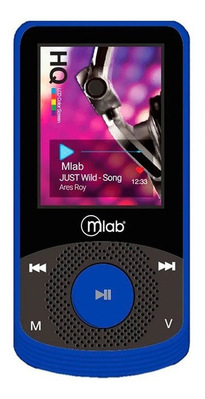 Reproductor Mp4 8gb Rubber Blue Mlab