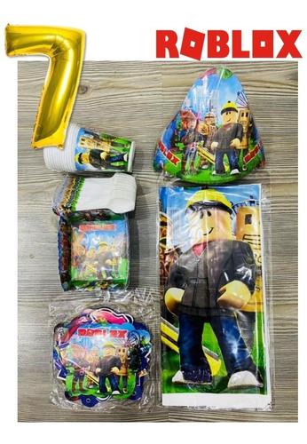 Imagen 1 de 1 de Kit Decoracion Roblox Para 12 Niños + Obsequio