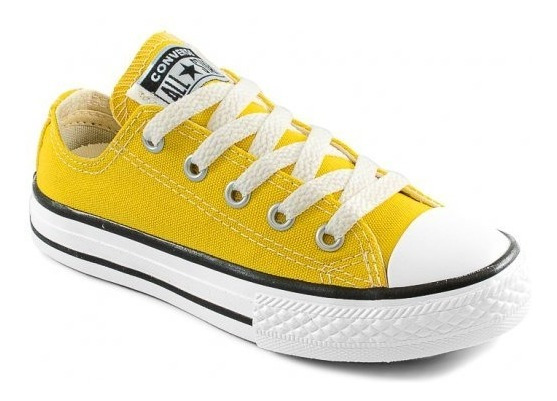 Tênis All Star Converse Infantil Amarelo Ck0430 - Original