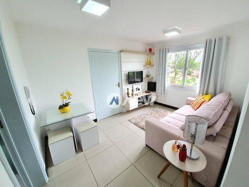 Apartamento Com 2 Dormitórios À Venda, 62 M² Por R$ 220.000,00 - Jardim Mauá - Novo Hamburgo/rs - Ap2825