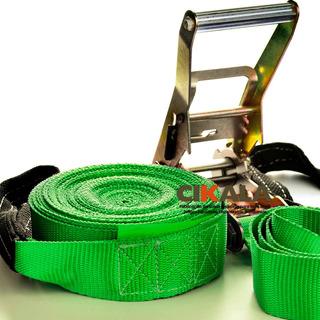 Slackline Verde Cinta 15,7 Catraca Protetor Bolsa Promoção