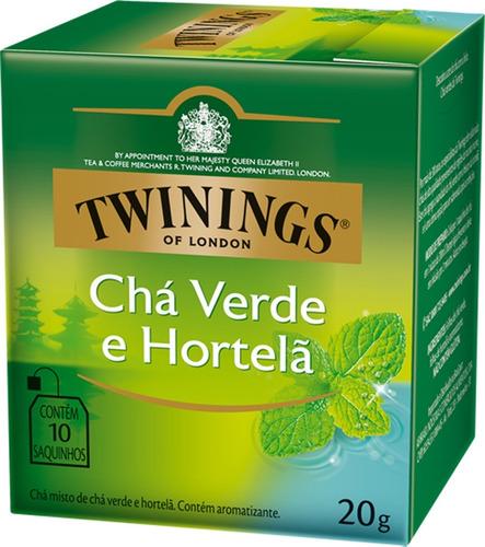 Imagem 1 de 1 de Chá Twinings Verde E Hortelã 10 Sachês