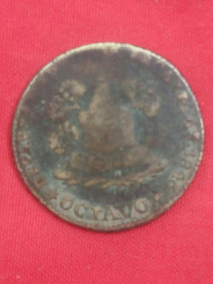 Octavo Zacatecas 1846 Brass Coin Departamento Cod 0023