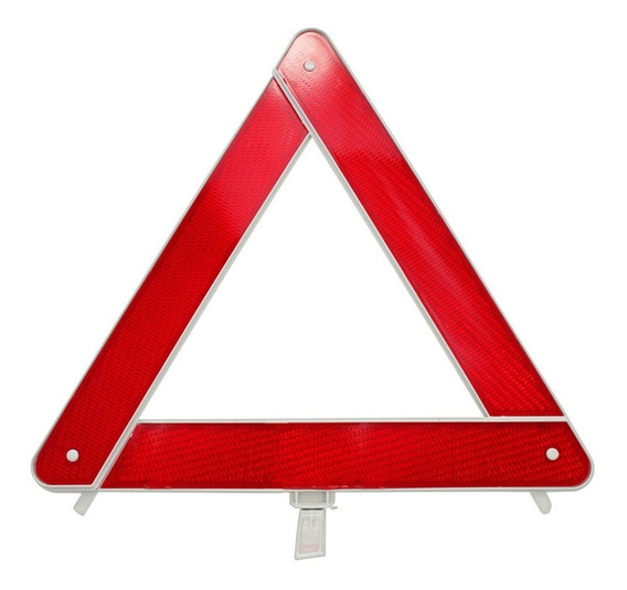 Triangulo De Segurança Automotivo Vermelho Universal