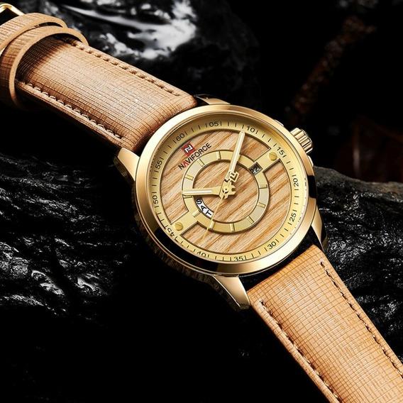 Relógio Analógico 9151 Dourado Bom Barato Pronta Entrega