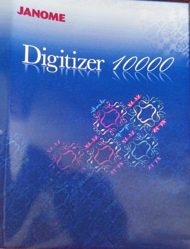 Janome Digitizer 10.000 V1.2e Win7 32bits+coleção 700mil Bor