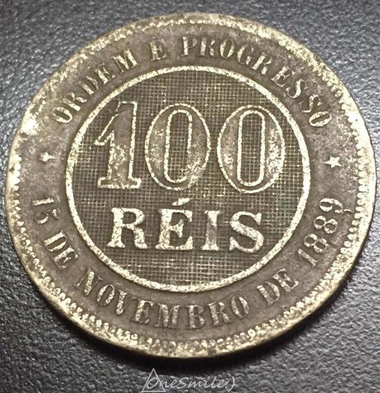 Onesmile:) Moneda De Brasil 100 Réis 1889