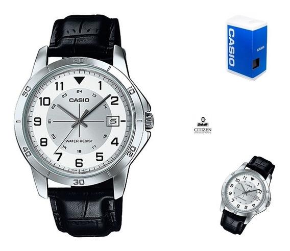 Reloj Casio Mtpv008 1b Hombre Correa Fechador *watchsalas*