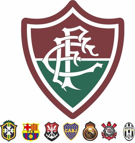 Adesivo Fluminense Escudo Futebol Brasileiro Logo Kit 12pcs