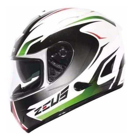 Capacete Zeus 806a Ii32 Alva Branco/verde