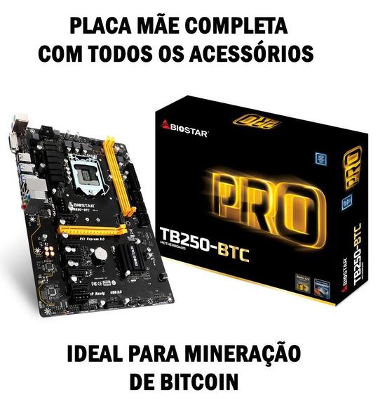 Placa Mãe Mineração Bitcoin Tb250-btc Pro 6 Pci-e Lga 1151