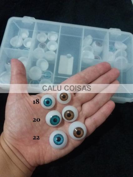36 Olhos Fixo Reborn Entre 18 20 E 22 + Caixa Organizadora