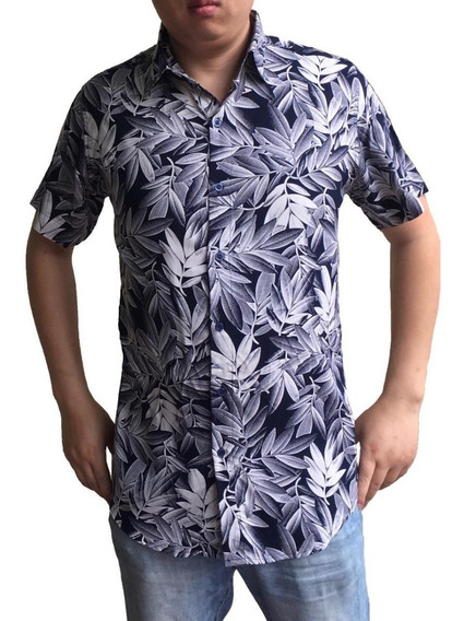 Camisa Masculina Kit 3 Estampa Manga Curto Moda Praia