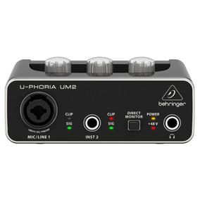 Behringer Um2 Interface De Audio Usb 48k . Loja . Gtia . Nf