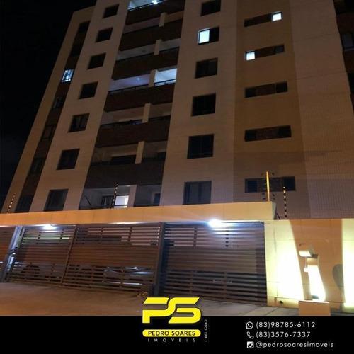 Apartamento Com 3 Dormitórios À Venda, 87 M² Por R$ 350.000 - Aeroclube - João Pessoa/pb - Ap3536