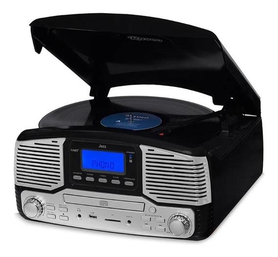 Vitrola Raveo Jazz Cd Player Bluetooth Usb Ex Harmony Bivolt