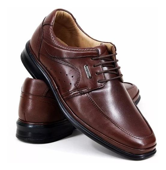 Sapato Calçado Pes Diabeticos Joanetes Esporão 100% Couro Le