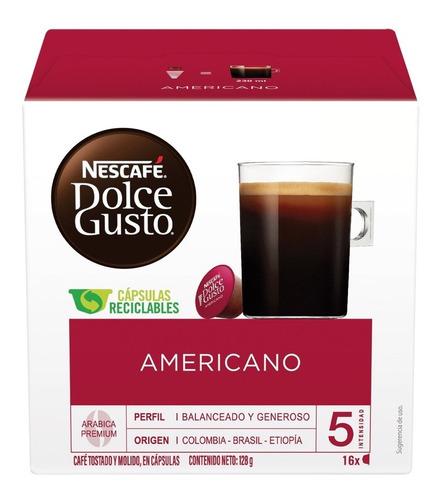 Imagen 1 de 10 de Cápsulas De Café Nescafé Dolce Gusto Americano