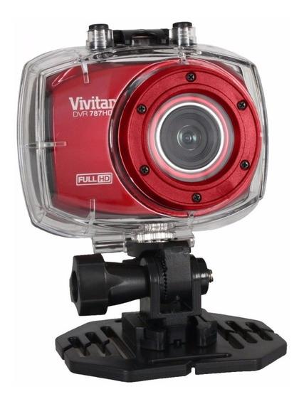 Câmera Filmadora De Ação Hd Com Acessórios Dvr787hd Vivitar