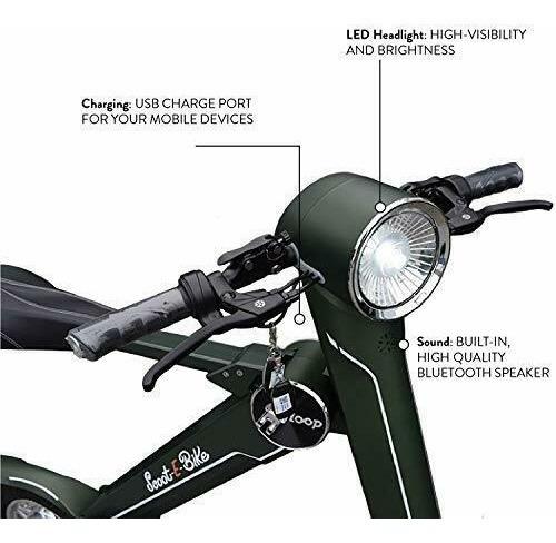 Imagen 1 de 2 de Scoot-e-bike Folding Electric Adult Scooter / Bicycle