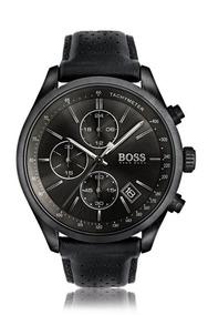 Relógio Hugo Boss Masculino Grand Prix Pulseira De Couro