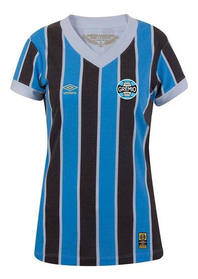 Camiseta Grêmio Retro 1983 Umbro Original Feminina