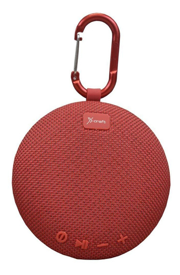 Caixa De Som Bluetooth X-craft X5 Vermelho 5w Resistente À