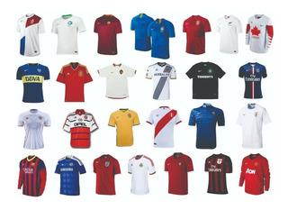 Coleção Camisas De Futebol - Celtic, Barcelona, Bayern, Psg