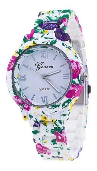 Relógio Geneva Florido