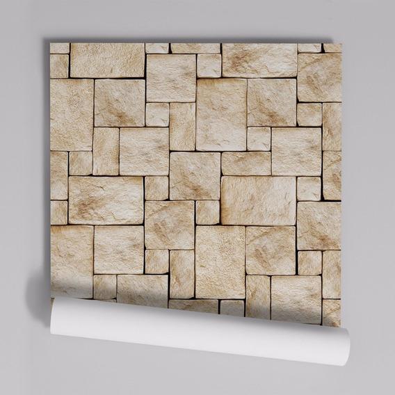 Papel De Parede Adesivo Pedras Mosaico Pr-14 - 20 Unidades