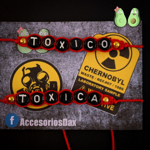 Pulsera Moda Para Parejas - Tóxica Toxico-