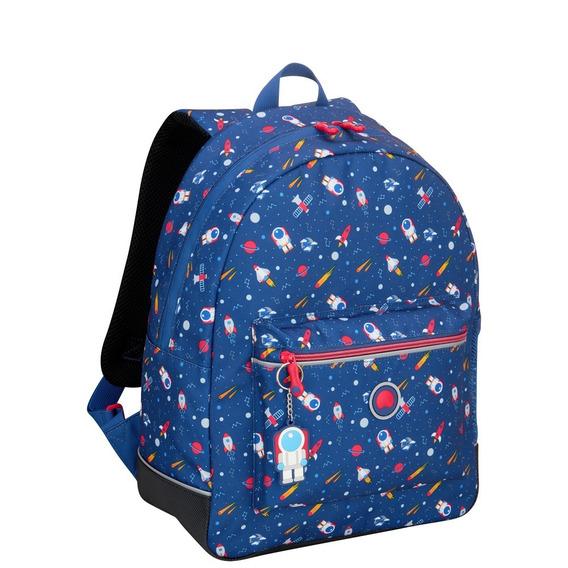 Mochila Escolar De 1 Compartimiento Delsey (azul Galaxy)