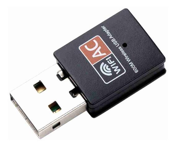 Adaptador Wifi Usb Dual Band Rede Sem Fio 5g 600mb