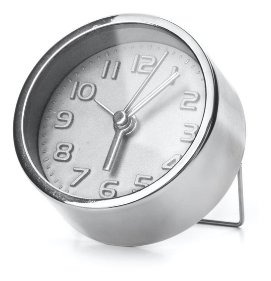 Mini Reloj Con Alarma Plata