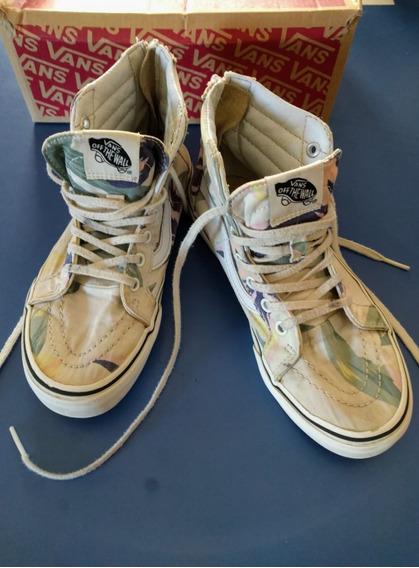 Zapatillas Vans En Lona Y Cuero Importadas
