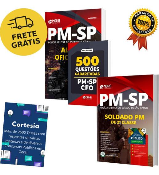 Kit Apostila Pm Sp - Oficial Pm + Soldado Pm + Questões Cfo
