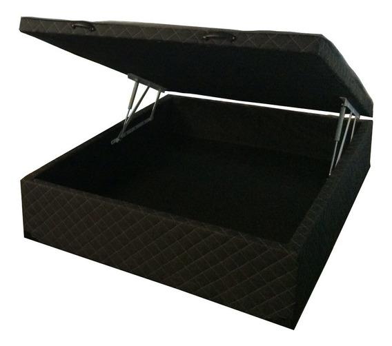Cama Box Baú Casal C/ 30cm De Profundidade