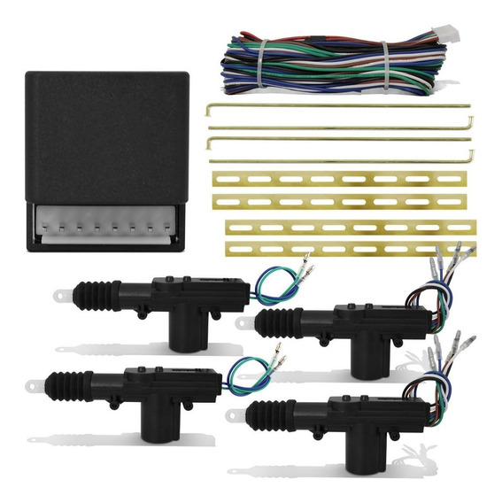 Conjunto Trava Eletrica 4 Portas Universal Dupla Serventia